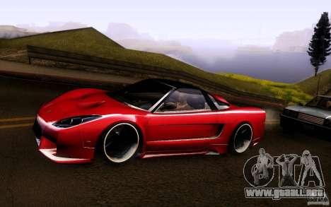 Honda NSX VielSide Cincity Edition para GTA San Andreas vista posterior izquierda