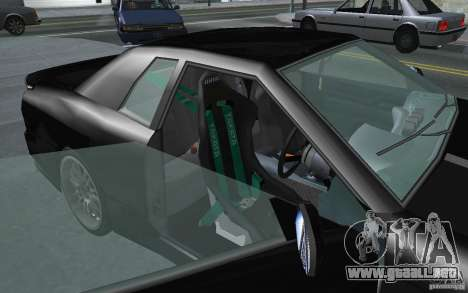 Elegy MS R32 para GTA San Andreas vista posterior izquierda
