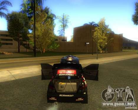 Subaru Impreza Colin McRae para GTA San Andreas vista posterior izquierda