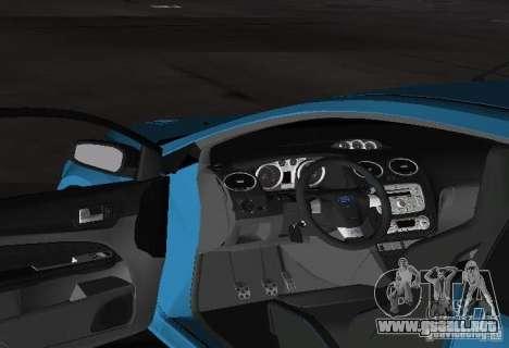 Ford Focus RS 2009 para GTA Vice City vista posterior