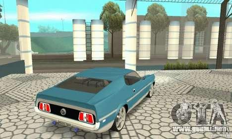 Ford Mustang Mach 1 1971 para GTA San Andreas left