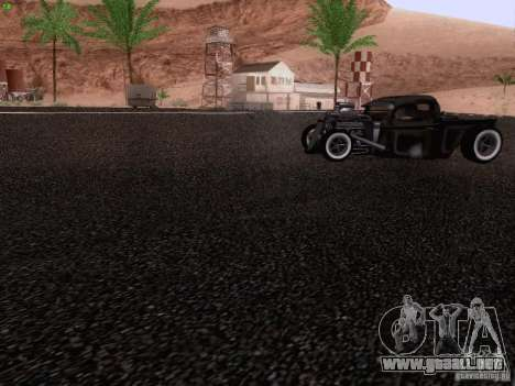 Ford Pickup Ratrod 1936 para la vista superior GTA San Andreas