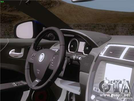 Jaguar XKR-S 2011 V2.0 para GTA San Andreas interior