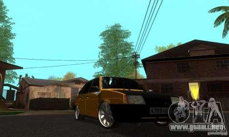 VAZ 2109 luz Tuning para GTA San Andreas vista hacia atrás