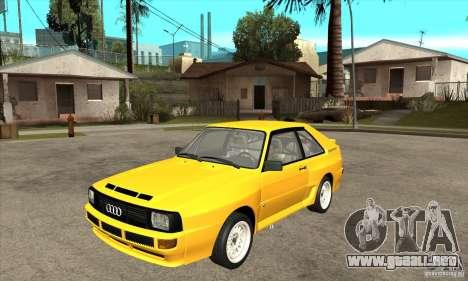 Audi SportQuattro 1983 para GTA San Andreas
