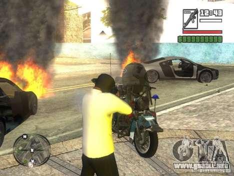 Black Helmet para GTA San Andreas tercera pantalla