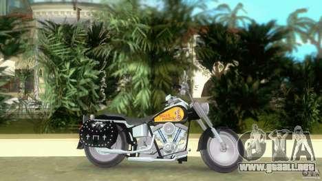 Harley Davidson FLSTF (Fat Boy) para GTA Vice City left
