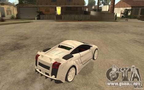 Lamborghini Gallardo MW para la visión correcta GTA San Andreas