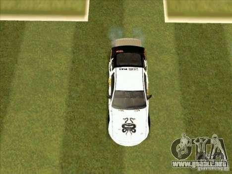 Ford Mustang Drag King from NFS Pro Street para visión interna GTA San Andreas