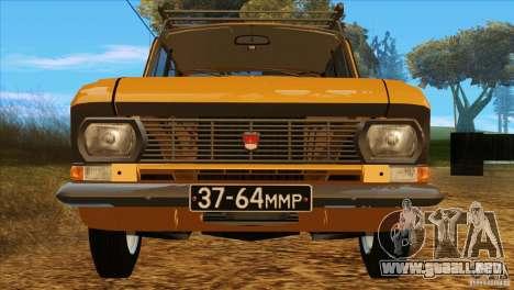 Moskvich 412 v2.0 para vista lateral GTA San Andreas