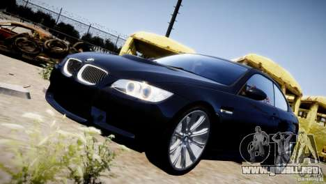 BMW M3 E92 para GTA 4 vista superior