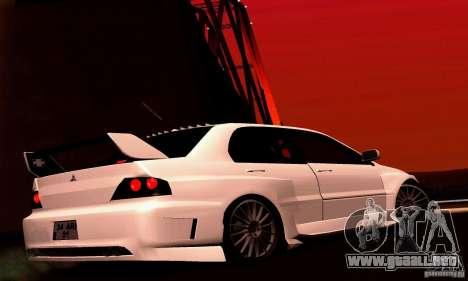 Mitsubishi Lancer Evo VII para la visión correcta GTA San Andreas