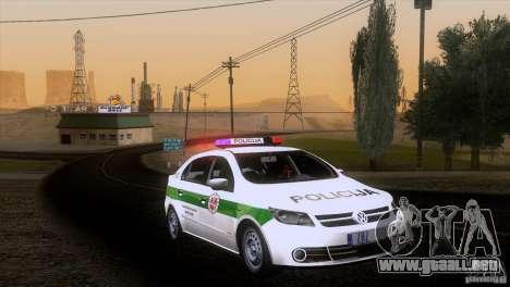Volkswagen Voyage Policija para GTA San Andreas vista posterior izquierda