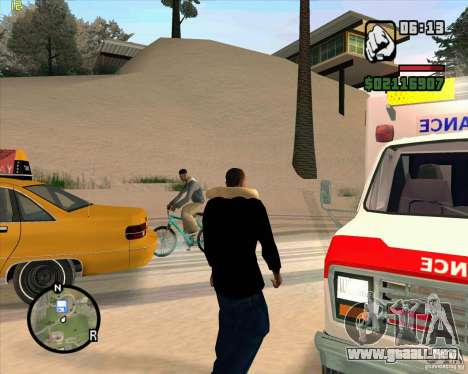 Ambulancia para GTA San Andreas sucesivamente de pantalla