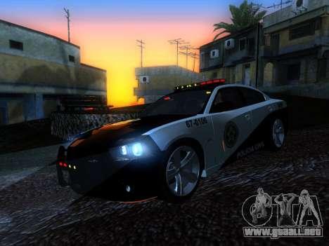 Dodge Charger SRT8 Police para GTA San Andreas vista hacia atrás