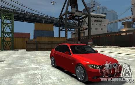 BMW 330i E90 para GTA 4 vista hacia atrás