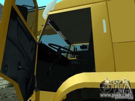 KAMAZ 65117 Ivanovets para visión interna GTA San Andreas