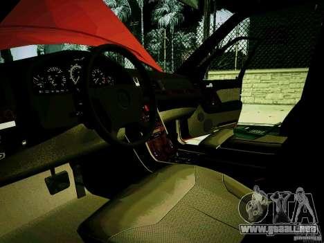 Mercedes-Benz S-Class W140 para GTA San Andreas vista hacia atrás
