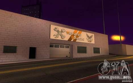 Salón del automóvil de HQ en San Fierro exclusiv para GTA San Andreas tercera pantalla