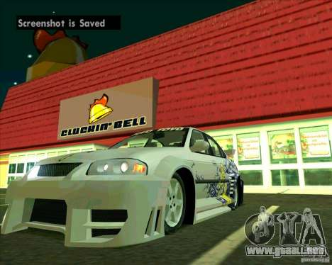 Nissan Sentra para la visión correcta GTA San Andreas