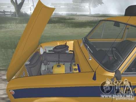 POLICÍA DE TRÁNSITO VAZ 21016 para visión interna GTA San Andreas