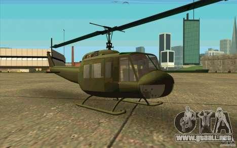 UH-1D Slick para GTA San Andreas left