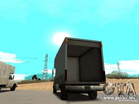 New Mule para GTA San Andreas vista posterior izquierda