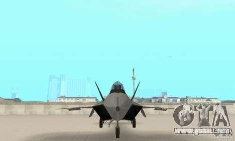 Y-f22 Lightning para visión interna GTA San Andreas