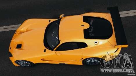 SRT Viper GTS-R 2012 v1.0 para GTA 4 vista hacia atrás