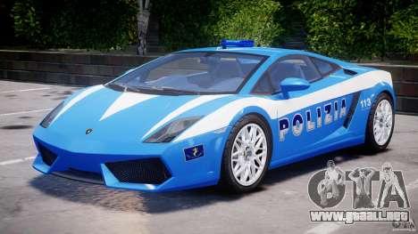 Lamborghini Gallardo LP560-4 Polizia para GTA 4 left
