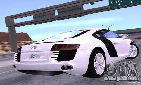 Audi R8 4.2 FSI para GTA San Andreas left