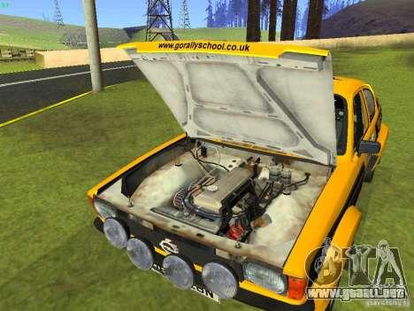 Opel Kadett para vista lateral GTA San Andreas