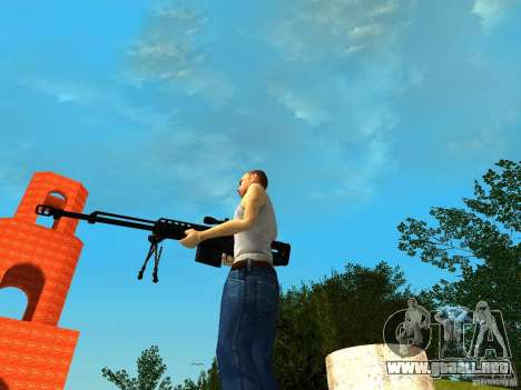 Accuracy International AS50 para GTA San Andreas sucesivamente de pantalla