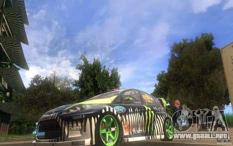 Ford Fiesta Gymkhana para GTA San Andreas left