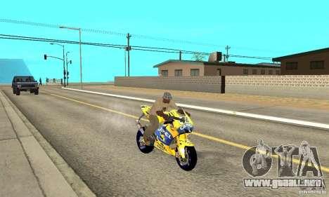 Honda Valentino Rossi Bf400 para la visión correcta GTA San Andreas