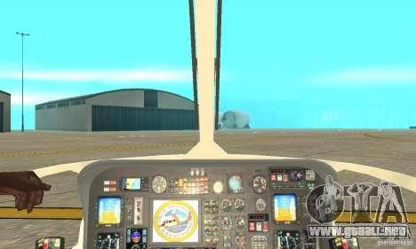 Guardacostas de Estados Unidos AS-365N para GTA San Andreas vista hacia atrás