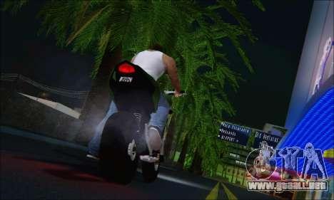 Honda CB600F Hornet 2012 para GTA San Andreas vista posterior izquierda