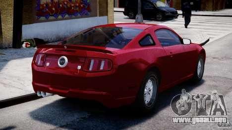 Ford Shelby GT500 2010 para GTA 4 Vista posterior izquierda