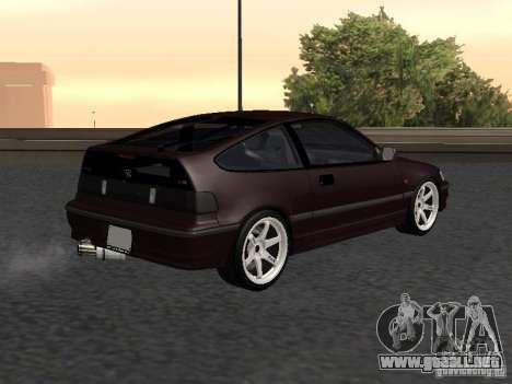 Honda Civic CRX JDM para GTA San Andreas vista posterior izquierda