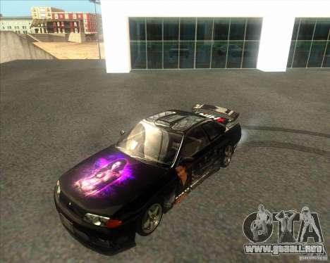 Nissan Skyline R32 GTS-T type-M para GTA San Andreas vista hacia atrás