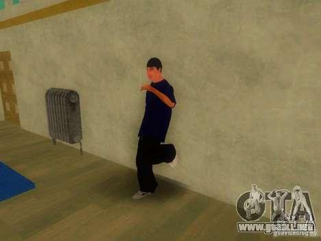 Tricking Gym para GTA San Andreas sucesivamente de pantalla