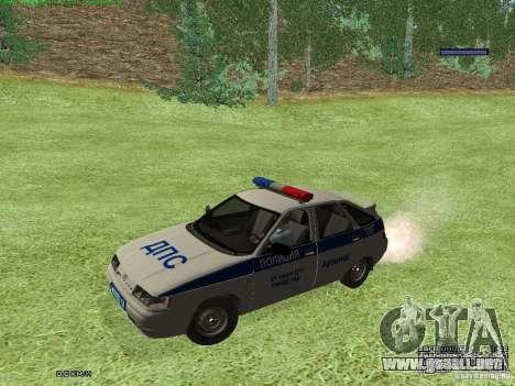 LADA 2112 DPS policía para GTA San Andreas left