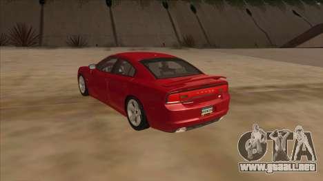 Dodge Charger RT 2011 V1.0 para GTA San Andreas vista posterior izquierda