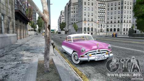Hudson Hornet Coupe 1952 para GTA 4 Vista posterior izquierda