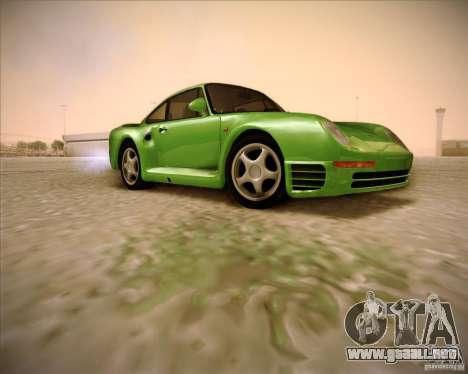 Porsche 959 1987 para la visión correcta GTA San Andreas