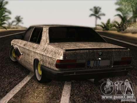 BMW E28 525E RatStyle para la visión correcta GTA San Andreas
