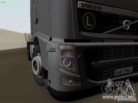Volvo FH13 Globetrotter para vista inferior GTA San Andreas