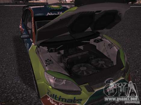 Ford Focus RS WRC 2010 para vista inferior GTA San Andreas