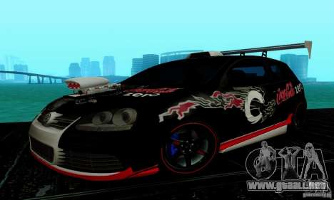 Volkswagen Golf R32 para vista inferior GTA San Andreas