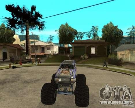 Bounty Hunter para GTA San Andreas vista hacia atrás
